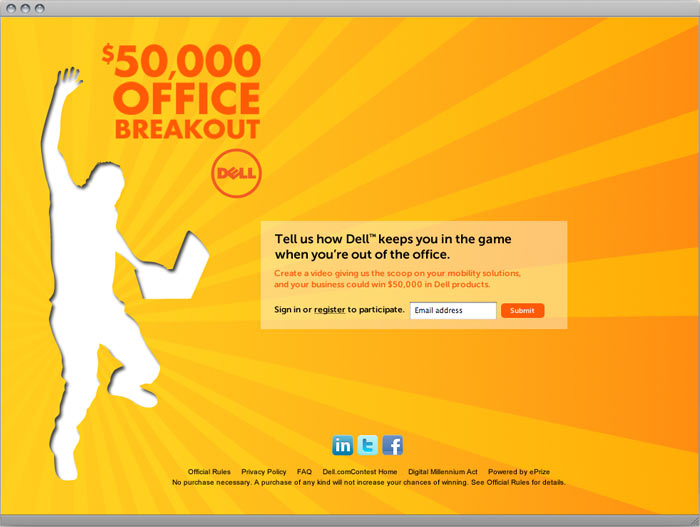Landing Page for Dell